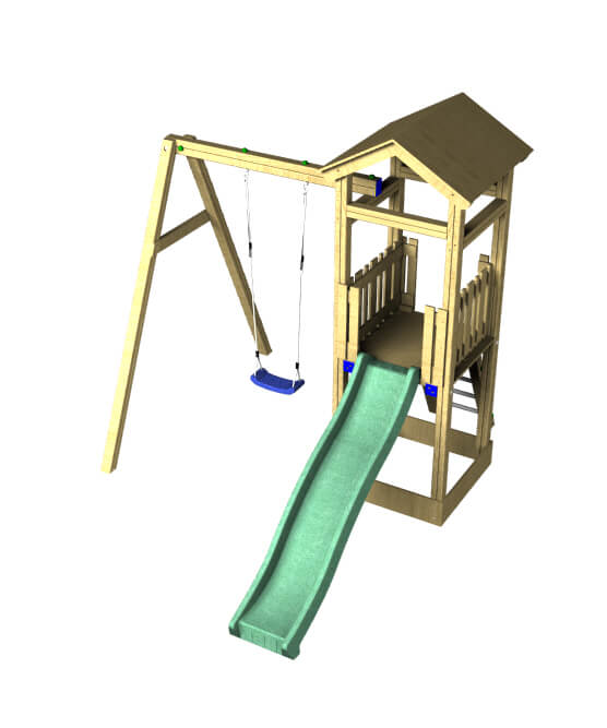The Willow slide and swing