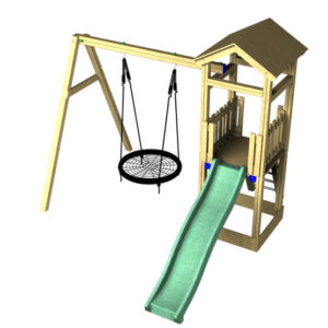 The Cherry Slide and basket swing